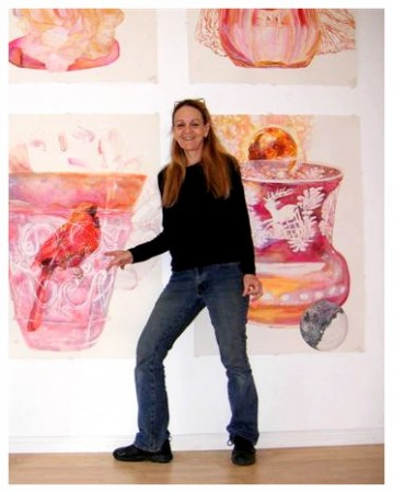 Ann with The Ruby Glass, Galerie Zero, Berlin 2008